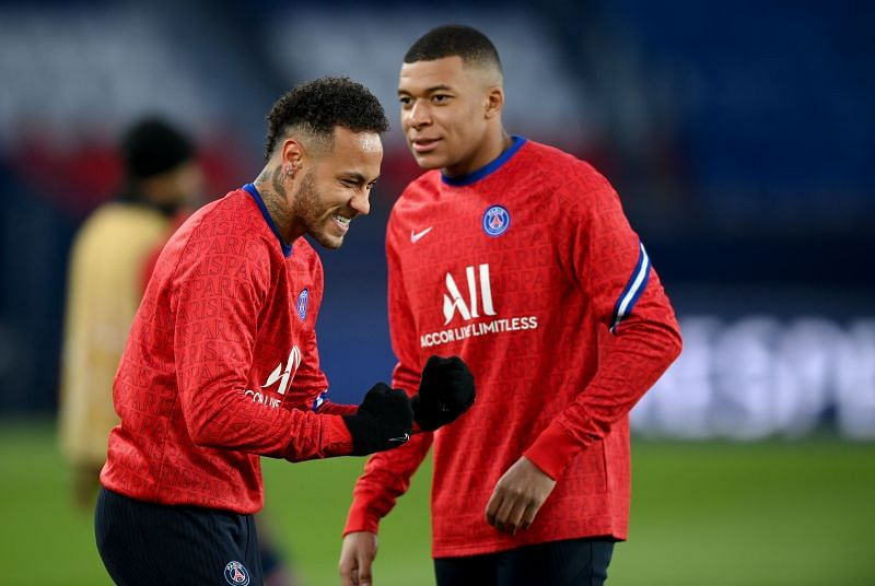 Neymar and Mbappe will be vying to go against the Manchester City defence.
