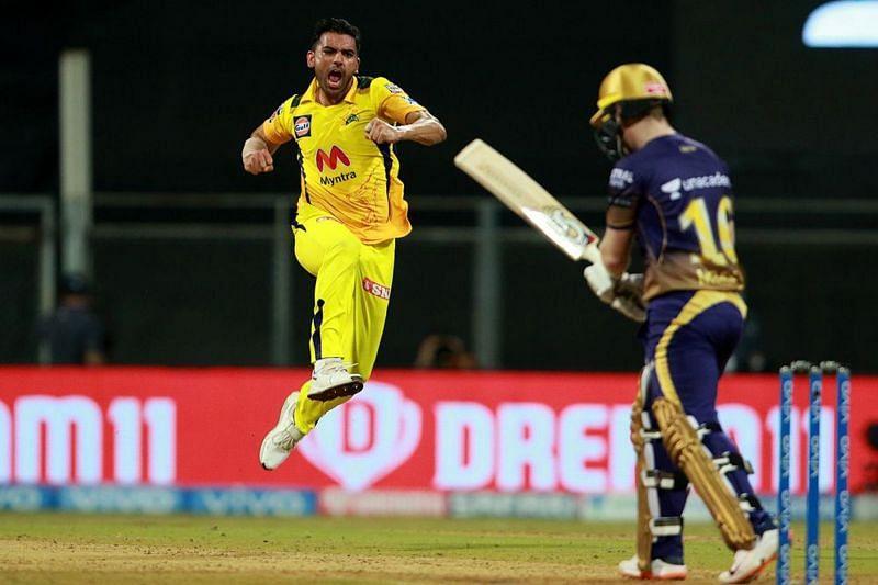 Deepak Chahar instituted a procession of KKR batsmen back to the dressing room.