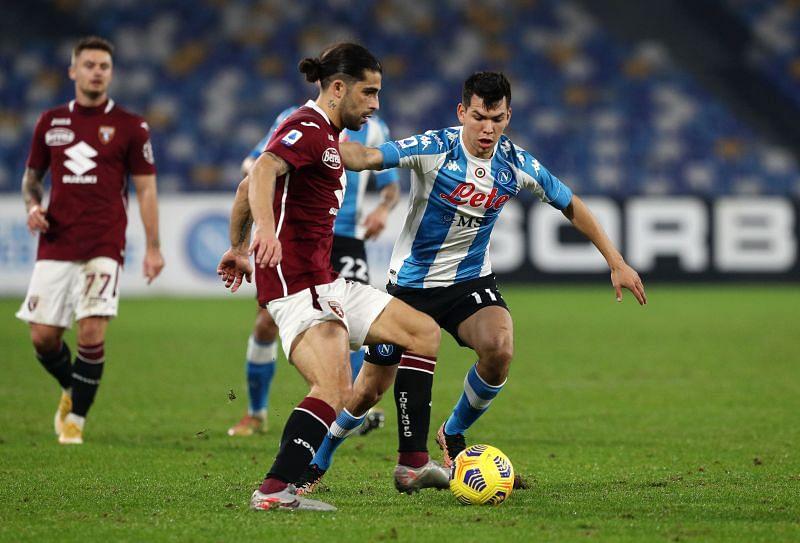 Torino take on Napoli at the Stadio Olimpico on Monday