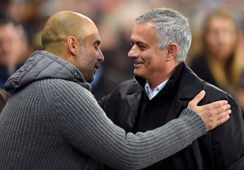 Jose Mourinho (right) has displayed tactical inflexibility.