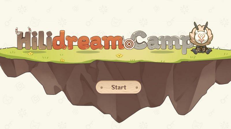 Hilidream camp web event (Image via miHoYo)