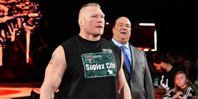 Paul Heyman with Brock Lesnar