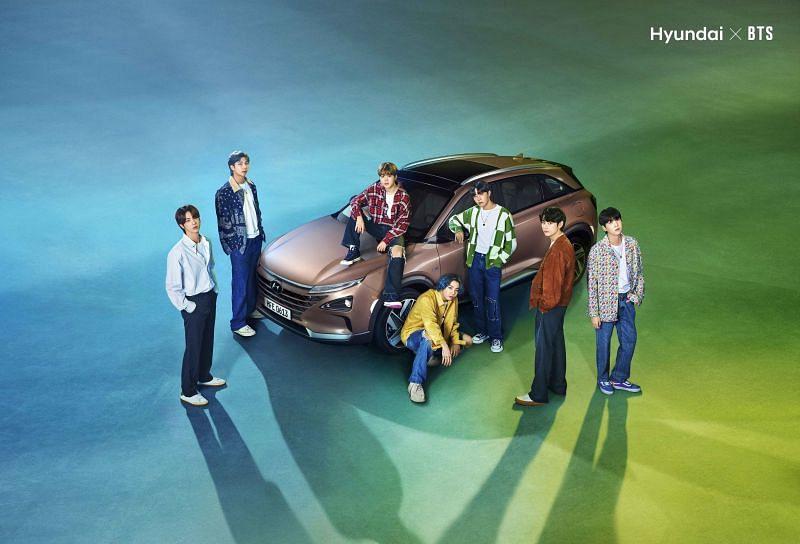 The Hyundai x BTS collab (Image via PR Newswire)