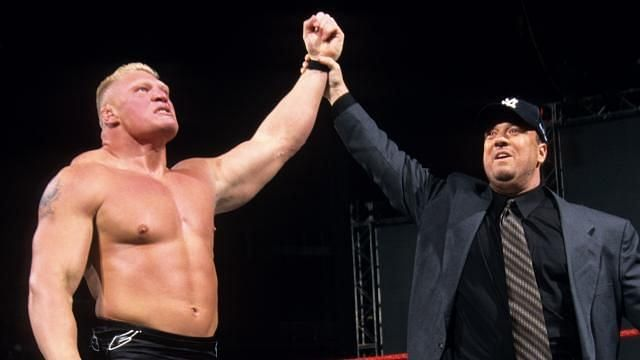 Brock Lesnar with Paul Heyman