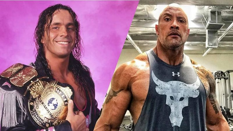 Bret Hart was looking out for a young Rock (Credit: WWE/Dwayne Johnson)