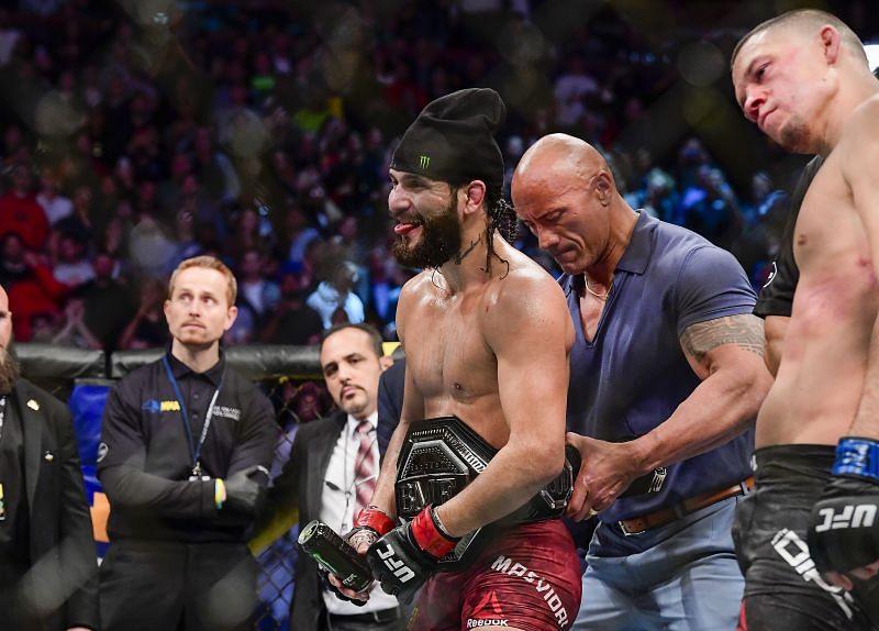 Jorge Masvidal with the BMF belt