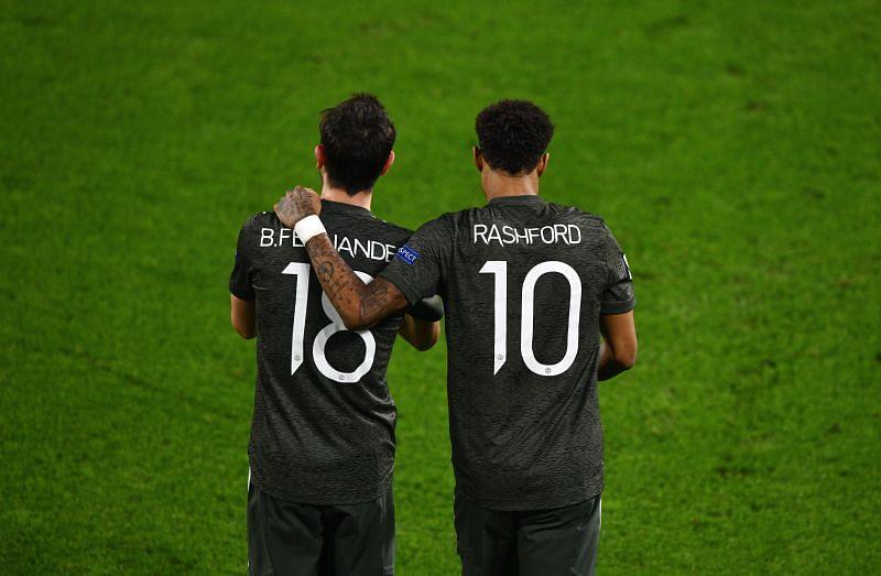 Marcus Rashford and Bruno Fernandes scored as Manchester United defeated Granada