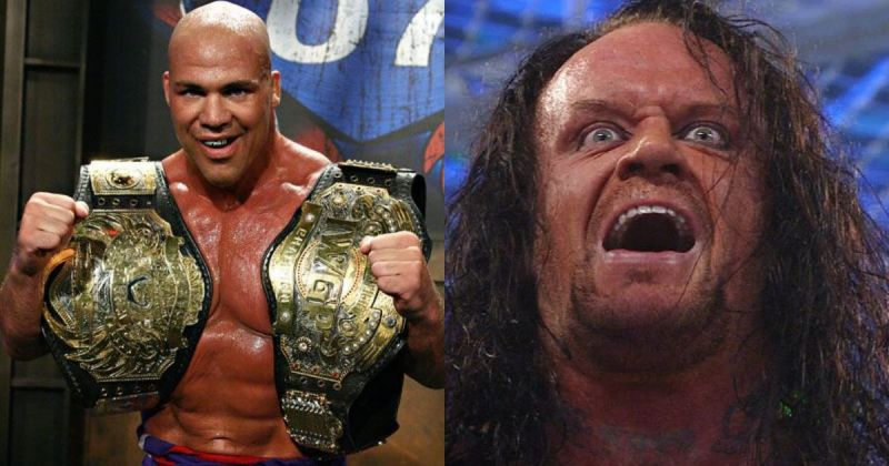 Kurt Angle and The Undertaker.