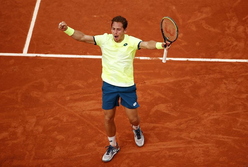 Roberto Carballes Baena at the 2020 French Open