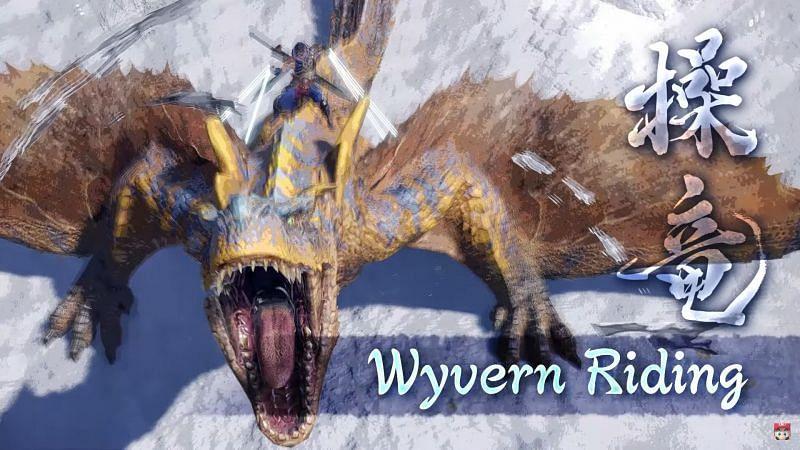 Wyvern Riding in Monster Hunter Rise (Image via nintendowire.com)