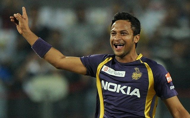 Shakib Al Hasan was previously part of KKR from 2011 to 2017
