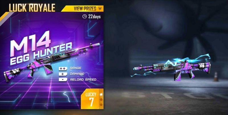 The Egg Hunter M14 skin has already been launched in Free Fire (Image via Free Fire)