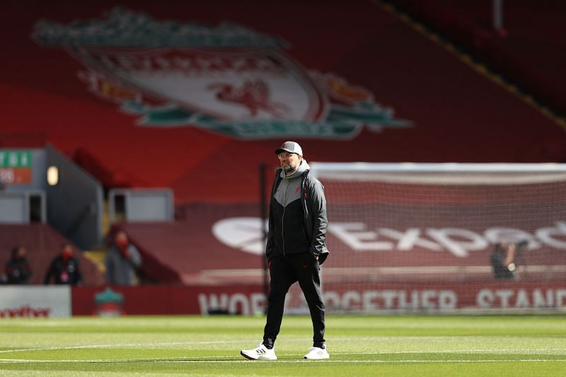 Klopp was unhappy after dropping points against Newcastle. (Photo by Clive Brunskill/Getty Images)