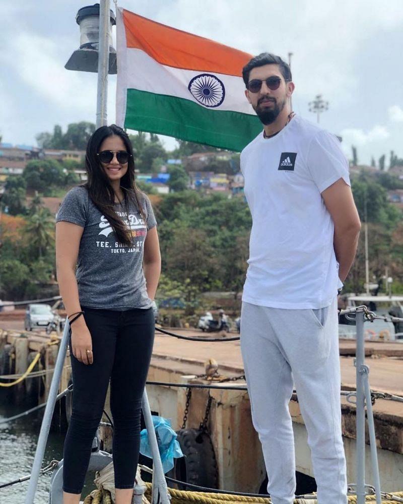 Ishant Sharma with wife Pratima Singh