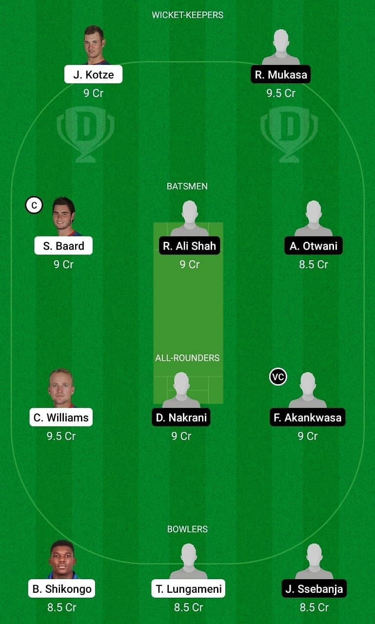 NAM vs UGA Dream11 Team Prediction