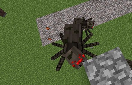 Spiders crawling up a wall (Image via minecraftwiz.blogspot.com)