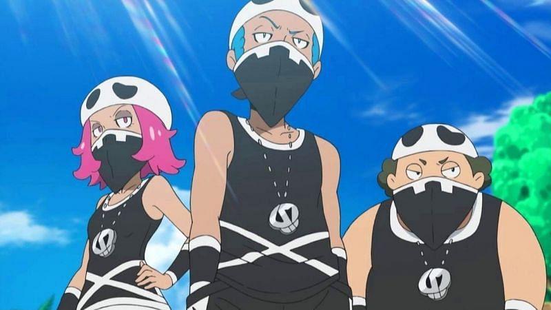 Team Skull in the anime (Image via The Pokemon Company)