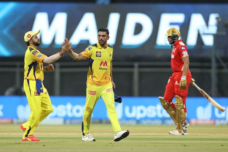 Deepak Chahar picked up a four-wicket haul in his last match at Wankhede Stadium (Image courtesy: IPLT20.com)