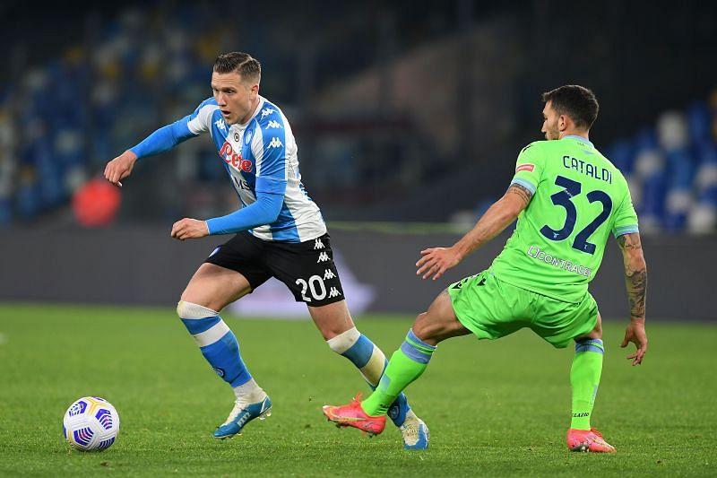 Zielinski in action for Napoli