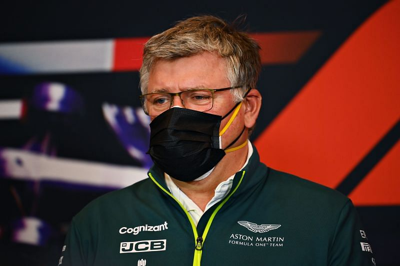 Otmar Szafnauer, Team Principal and CEO of Aston Martin F1 talks in the Team Principals