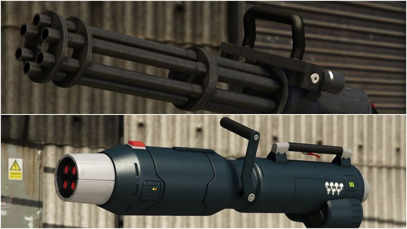 Widowmaker vs Minigun in GTA Online: Which gun is better and why?