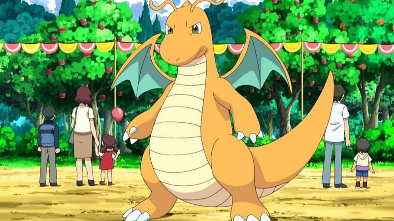 Dragonite in the anime (Image via The Pokemon Company)