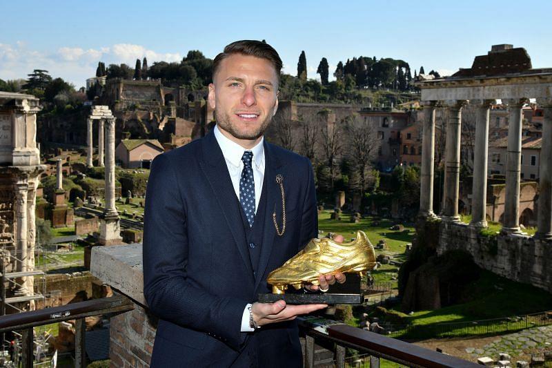 Ciro Immobile of SS Lazio won the Golden Boot Award