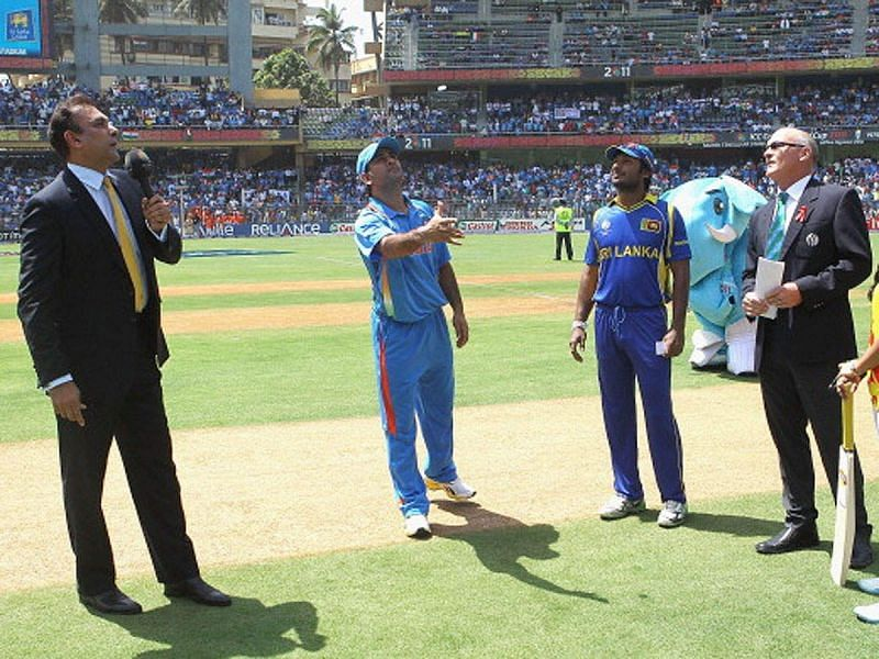 The toss happened twice in the 2011 World Cup final (Credits: Times of India)