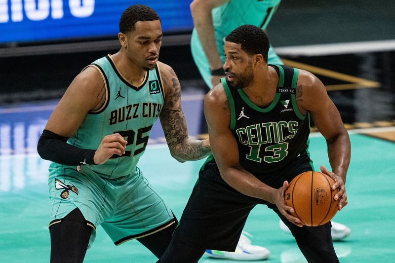 Tristan Thompson #13 of the Boston Celtics