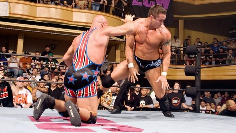 Kurt Angle and Randy Orton at ECW: One Night Stand (Credit: WWE)