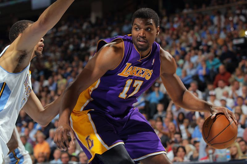 Andrew Bynum during his time with the LA Lakers.