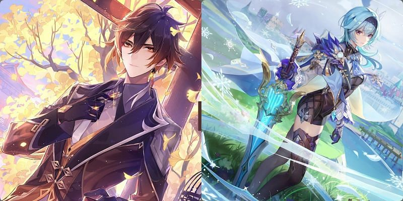 Zhongli and Eula are the featured 5-star in Genshin Impact 1.5 (Image via miHoYo)