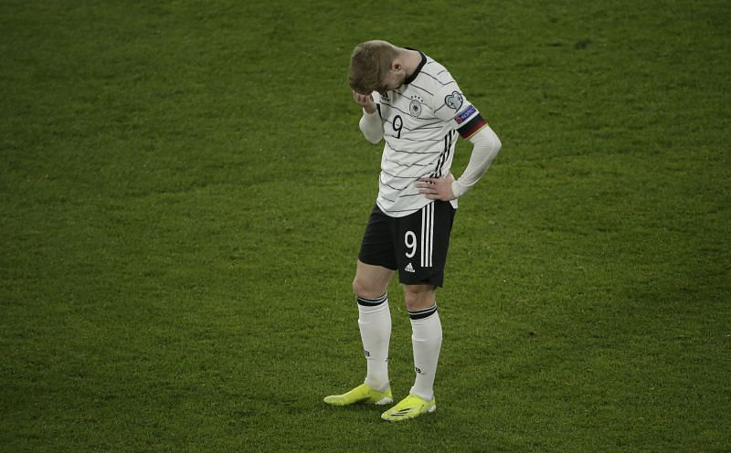 Timo Werner looks dejected