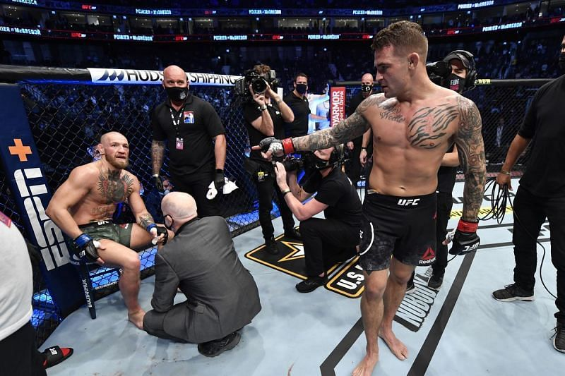 """""""I'm gonna get my hand raised"""" – Dustin Poirier's prediction for trilogy fight against Conor McGregor at UFC 264"""