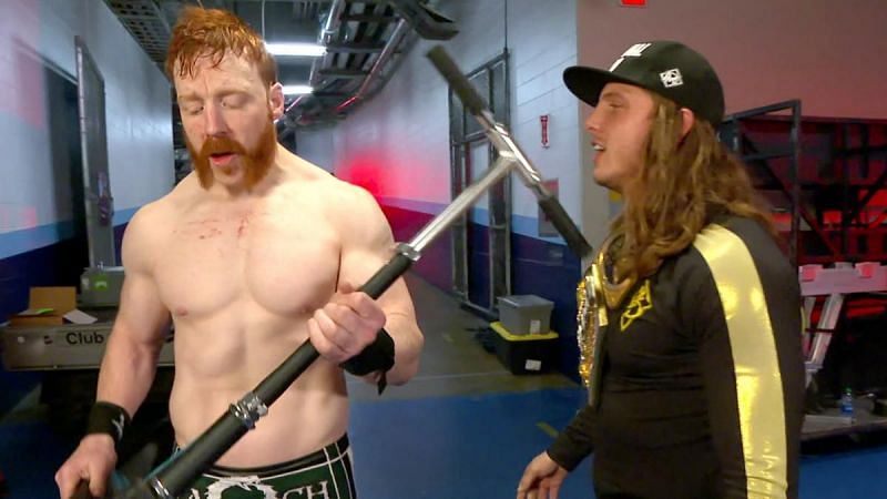 Sheamus attacked Riddle with a scooter before WrestleMania 37
