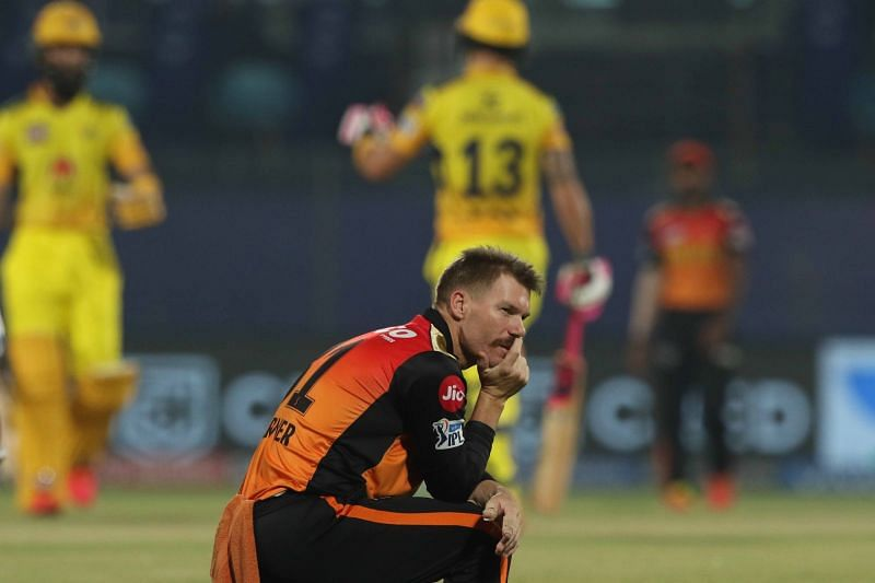 Warner struggles to grasp SRH