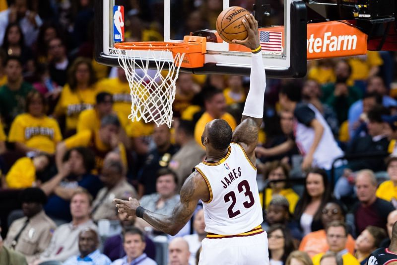 LeBron James #23 of the Cleveland Cavaliers.