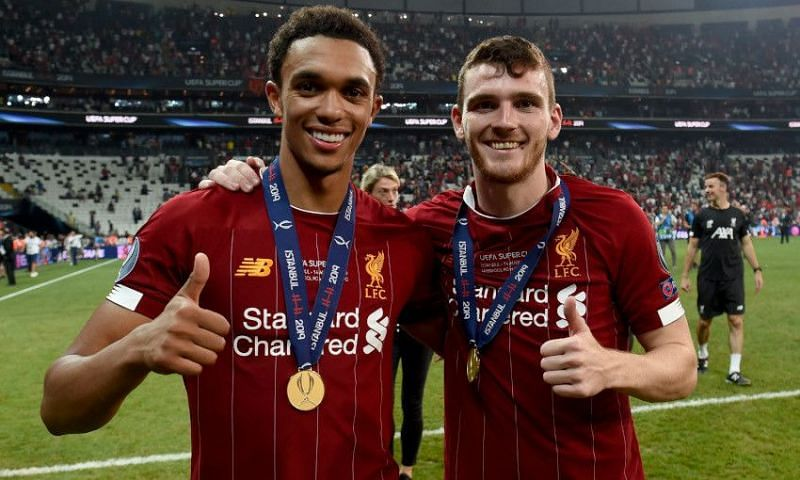 Trent Alexander-Arnold (left) and Andrew Robertson (right) have excelled at Liverpool.