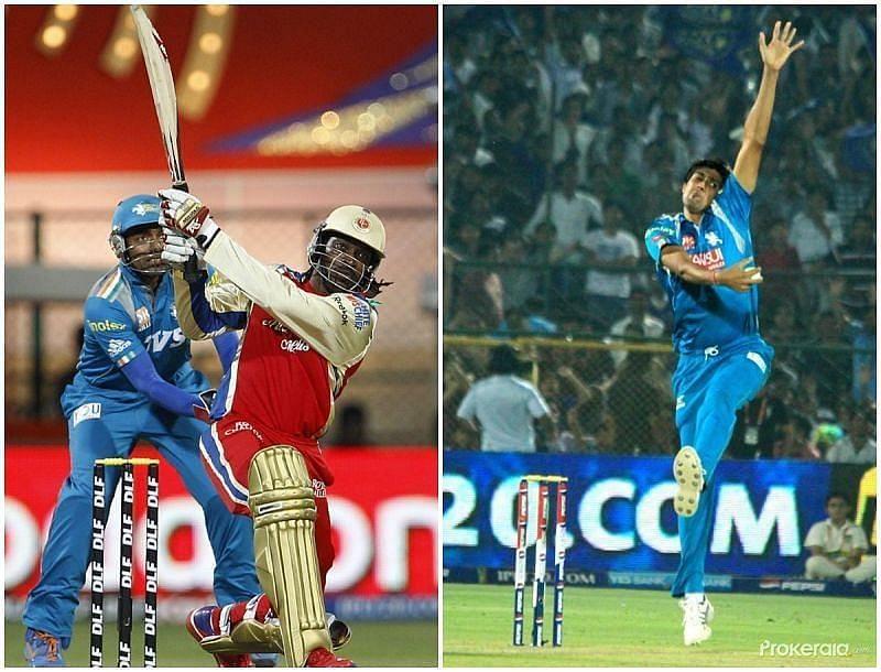 क्रिस गेल और राहुल शर्मा