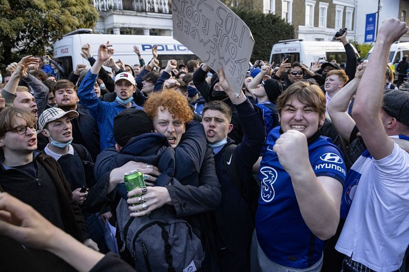 There were widespread protests regarding the ESL. (Photo by Rob Pinney/Getty Images)