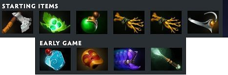 Early game items for Mars in Dota 2 (Image via Valve)