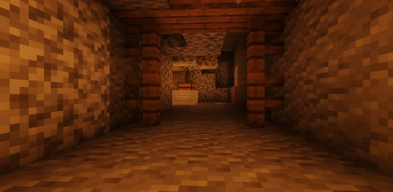 Shown: A player discovering a Minecart with Chest (Image via Minecraft)