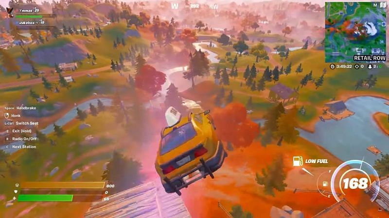 A car being launched from Spire launchpad (Image via YouTube, Top5Gaming)