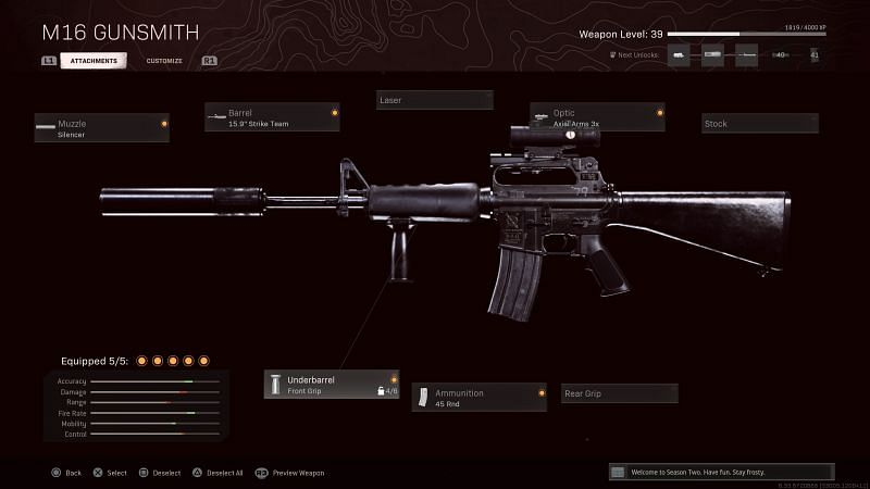 The M16 boasts some great fire rate and damage in Call of Duty: Warzone (Image via Activision)