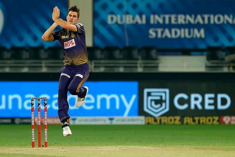 Pat Cummins was predominantly used with the new ball by KKR in IPL 2020 [P/C: iplt20.com]