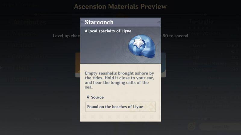 Starconch, one of Liyue