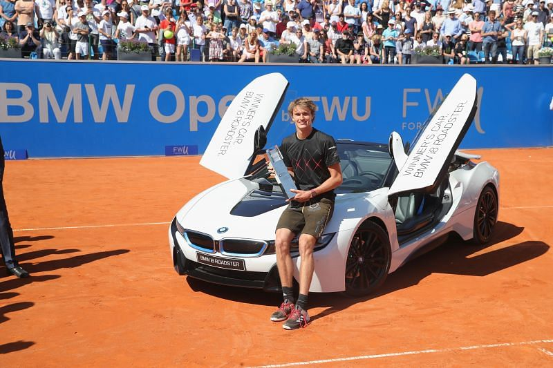 Alexander Zverev, after winning the 2018 BMW Open