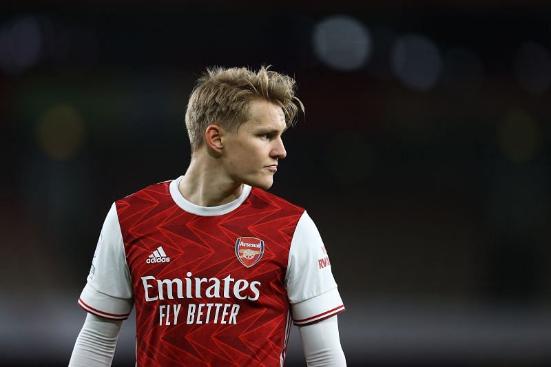 Real Madrid loanee Martin Odegaard playing for Arsenal