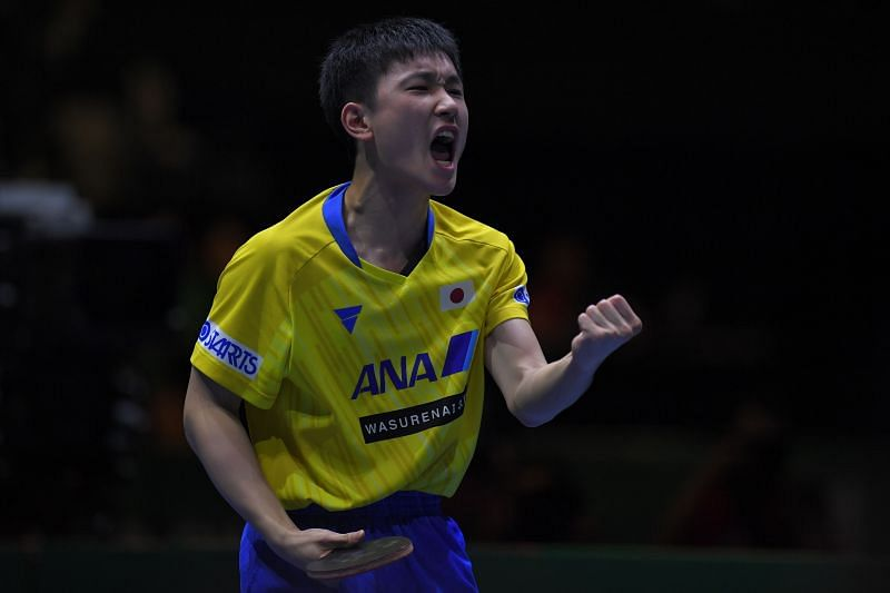 Japanese Tomokazu Harimoto (in picture) will provide a stiff challenge to Ma Long at Tokyo Olympics