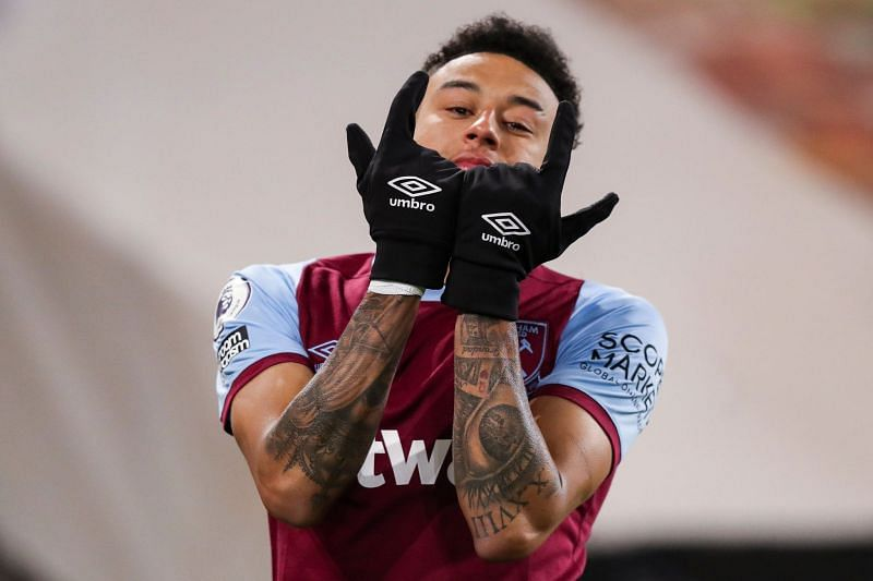 Jesse Lingard has scored six goals and provided three assists since joining West Ham United